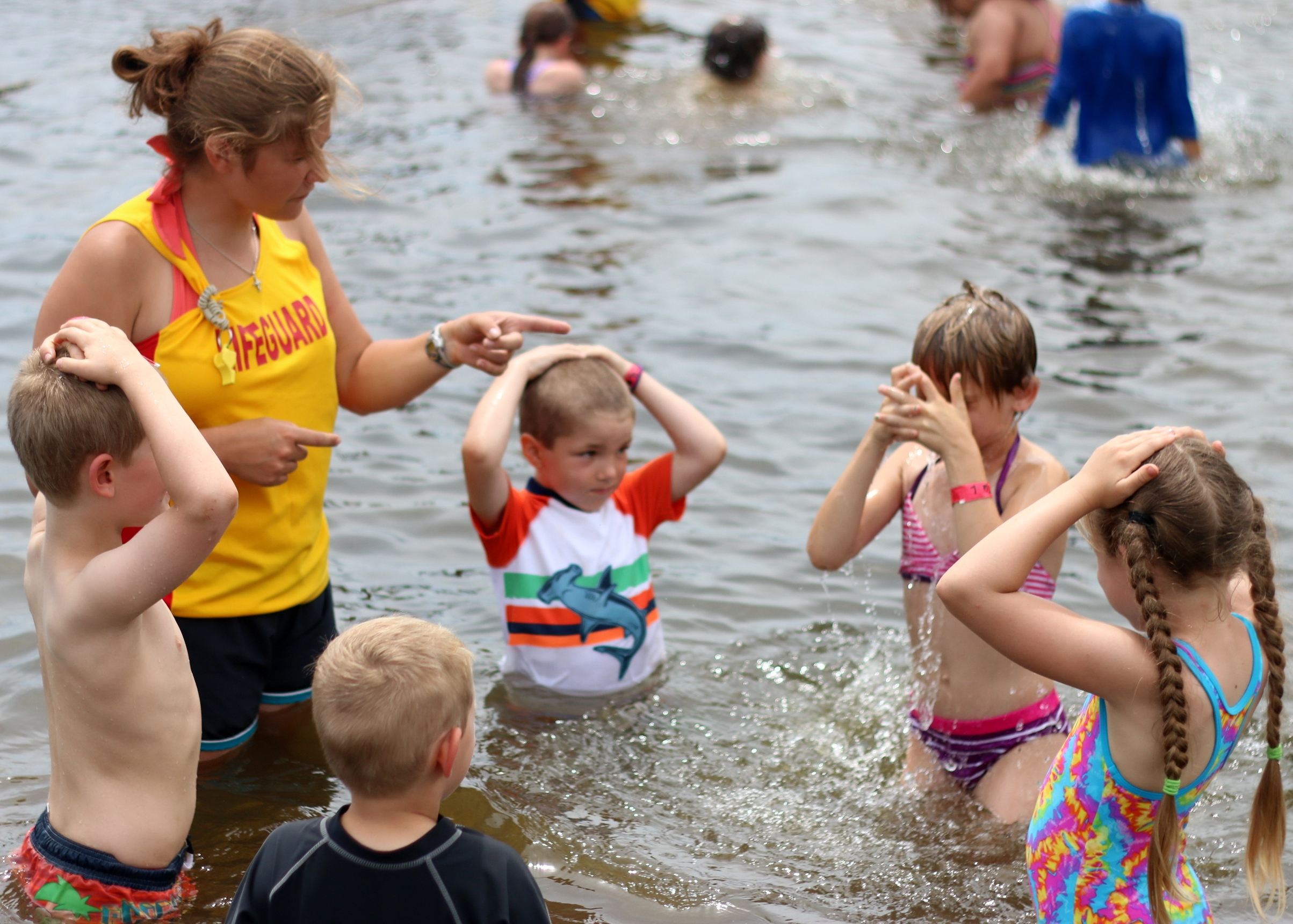 teaching swimming lessons, christian adventure Summer Camp, Haliburton, Ontario