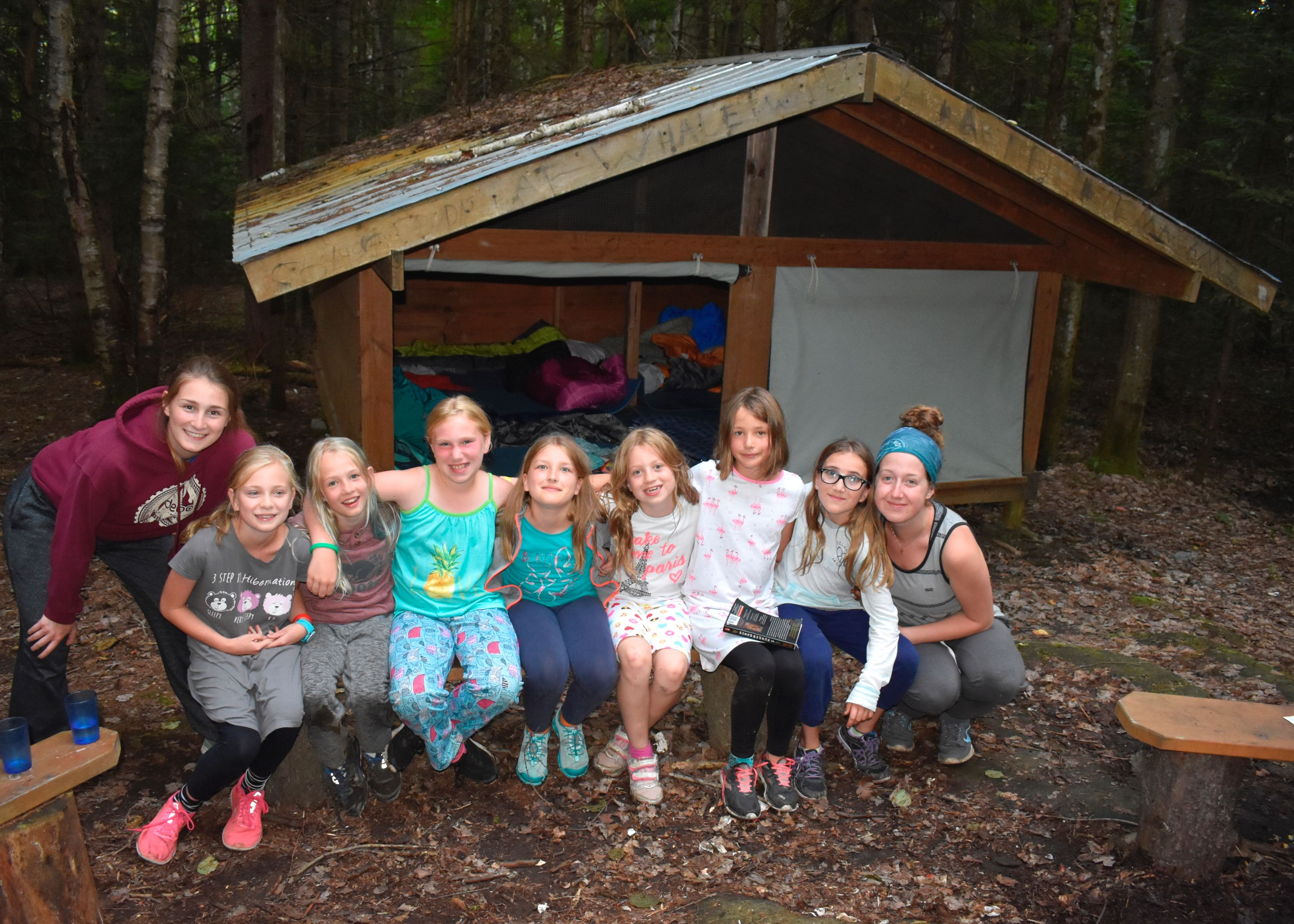 Campers at camp out at christian adventure summer camp in haliburton, ontario