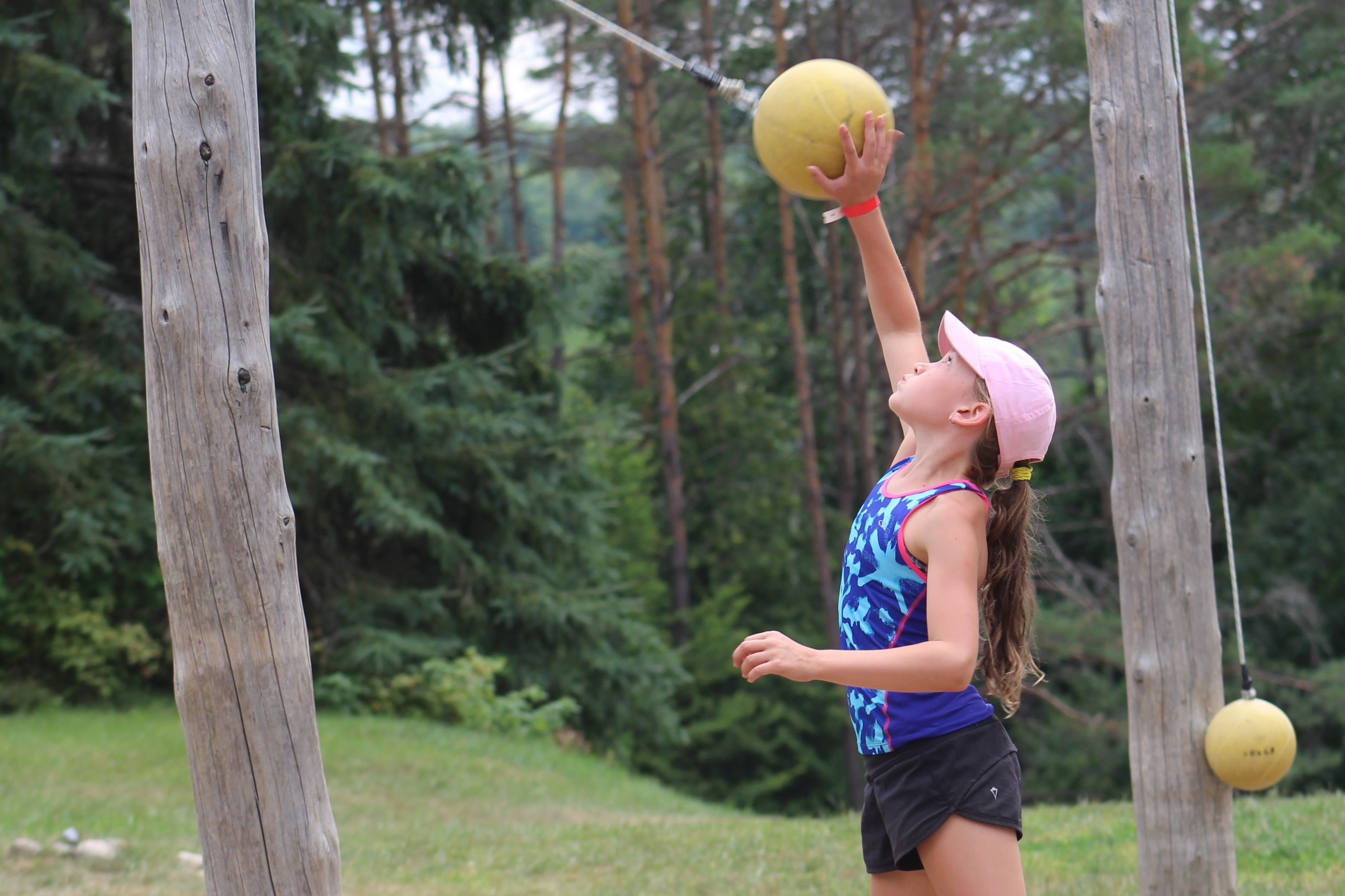 Tetherball in the park at Medeba Summer Camp