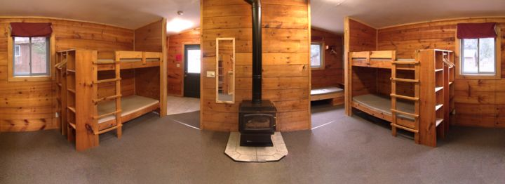 Picture of the inside of our cabins