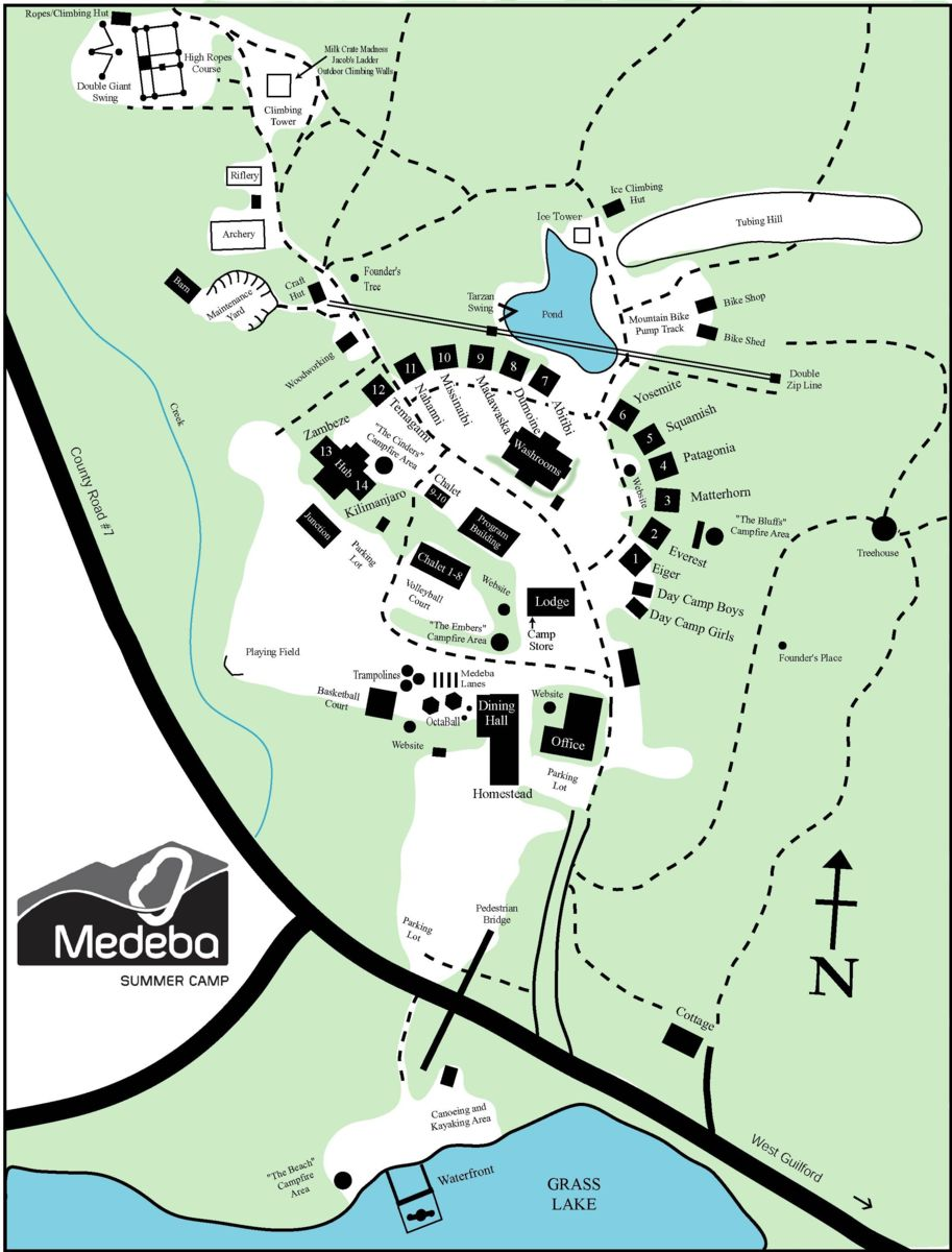 Map of medeba's property and trails