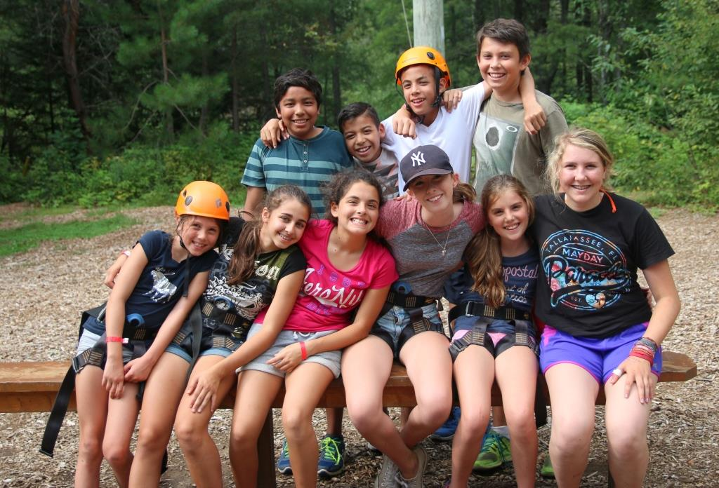group of summer campers in Haliburton, Ontario