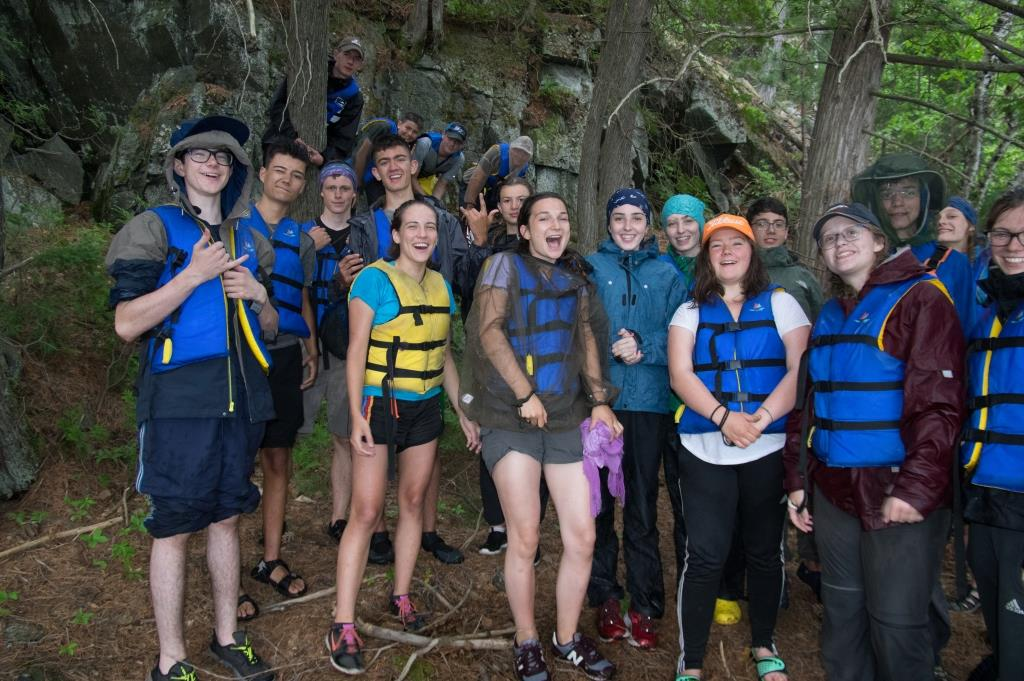 Medeba Summer Camp LIT group on their canoe trip