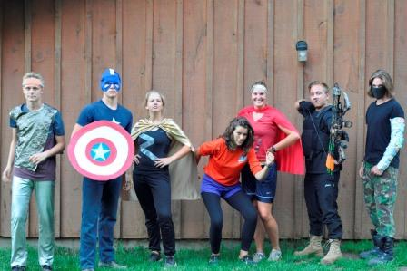 Medeba staff dresses as the Avengers