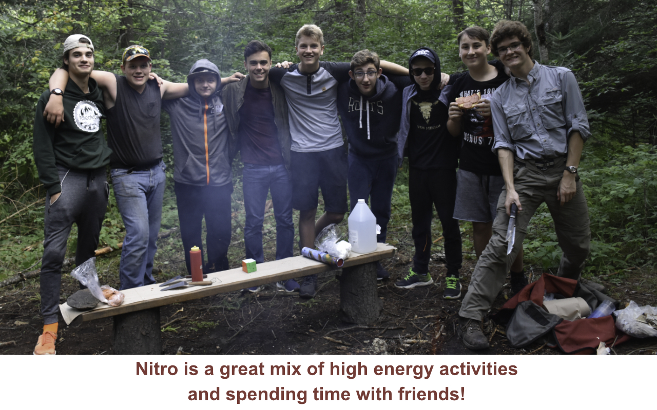 Nitro is a mix of high energy activities and time to hang out with friends